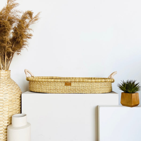 Wheatgrass<br>Changing Basket<br>Cream Handle