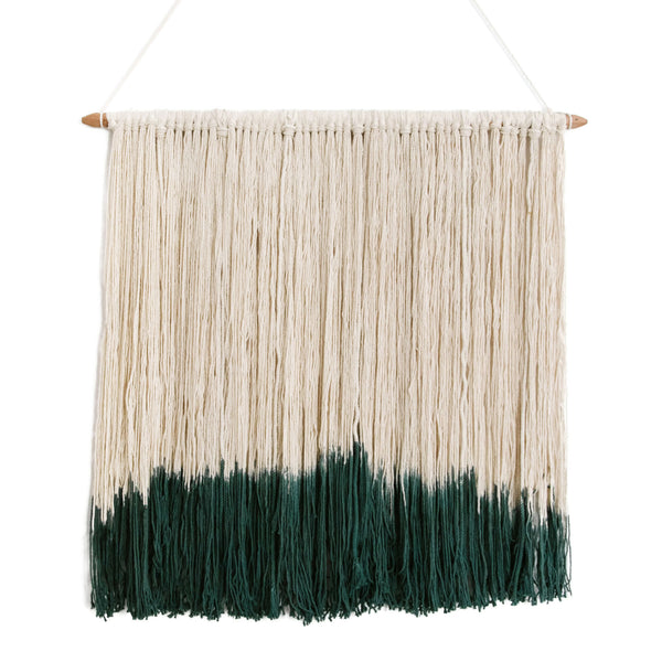 Macrame Wall Hanging<br>Forrest Green