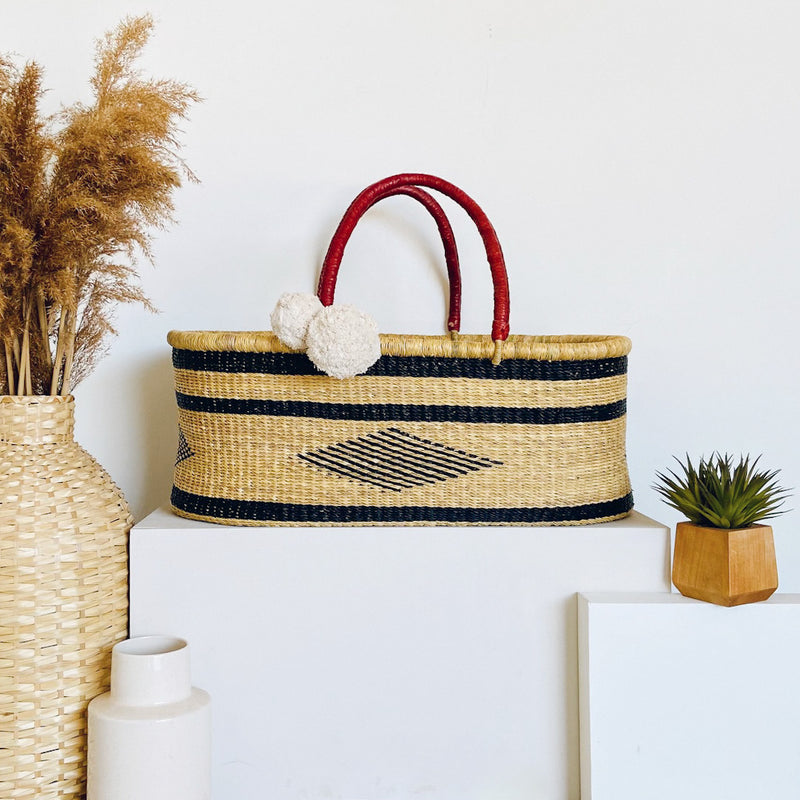 Meadow<br>P+S Signature Collection<br>No Hood<br>African Moses Basket