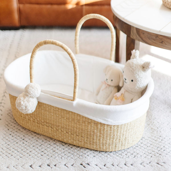 ** pre-order **<br> ships on or before feb 15<br>Wheatgrass<br>No Hood<br>African Moses Basket<br>Brown Handle