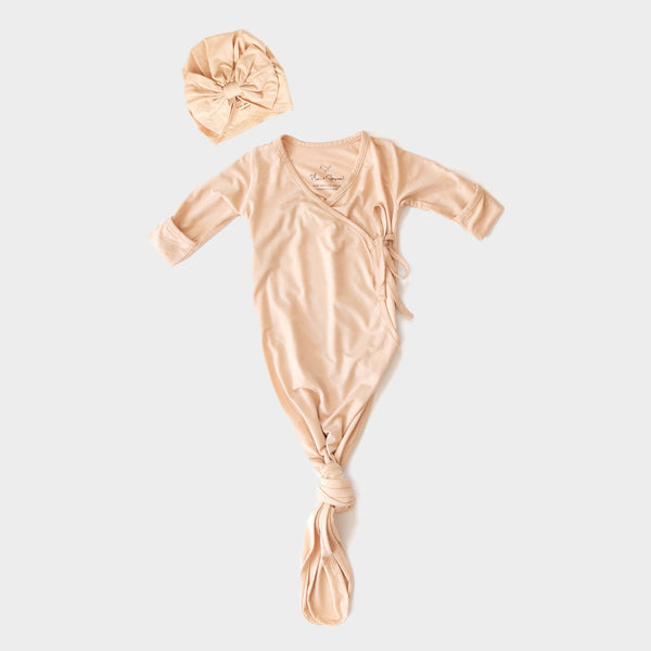 Kimono Knotted Gown<br> Nude Peach