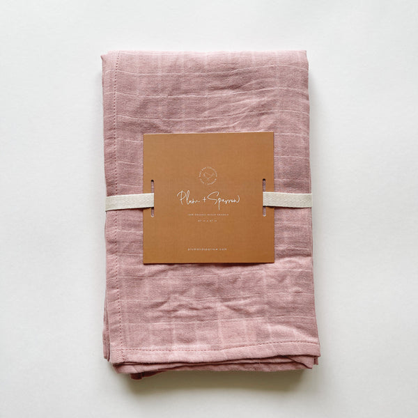 Muslin Cotton Swaddle<br>Peony