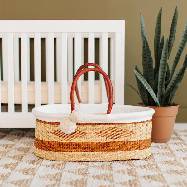 Copper Sun<br>P+S Signature Collection<br>No Hood<br>African Moses Basket