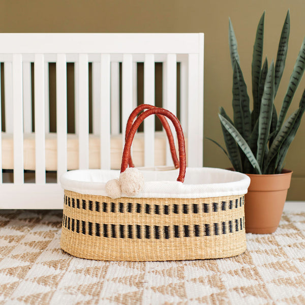 Ashwood<br>P+S Signature Collection<br>No Hood<br>African Moses Basket