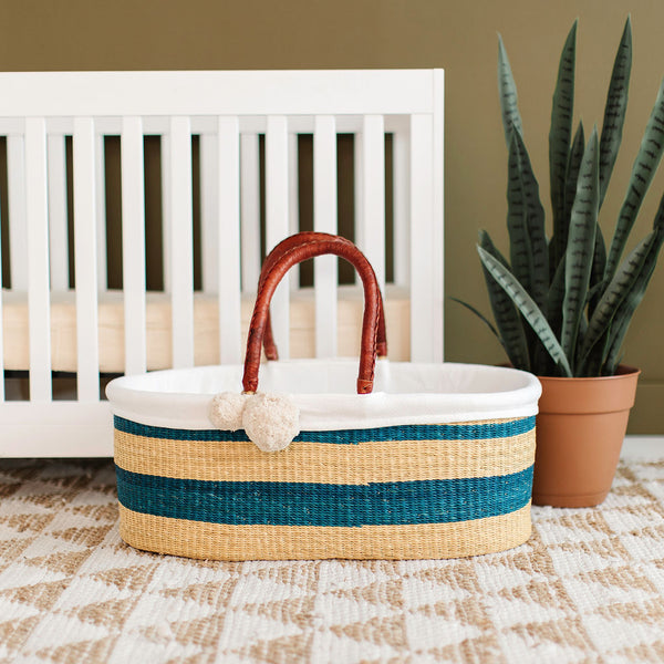 Coastal<br>P+S Signature Collection<br>No Hood<br>African Moses Basket