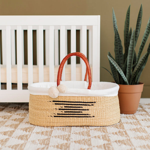 Maple<br>P+S Signature Collection<br>No Hood<br>African Moses Basket