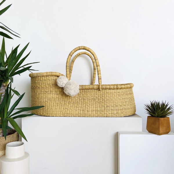** pre-order **<br> ships on or before feb 15<br>Wheatgrass<br> African Moses Basket <br> Vegan Handle