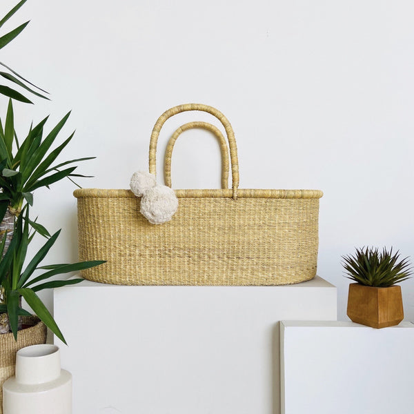 ** pre-order **<br> ships on or before feb 15<br>Wheatgrass<br> African Moses Basket <br>No Hood<br> Vegan Handle