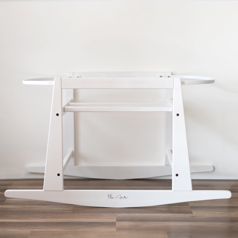 Original Rocking Bassinet Stand<br>White Wood