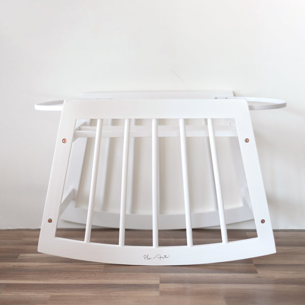 Modern Rocking Bassinet Stand<br>White Wood