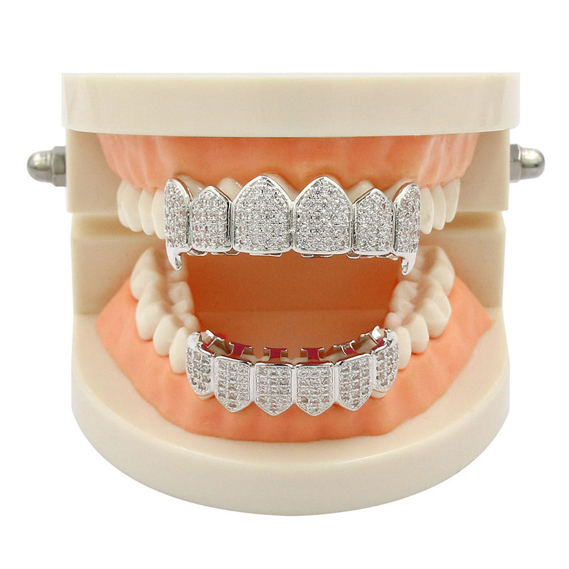 12 Teeth Gold-plated Diamond Grillz
