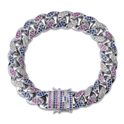 14mm &18mm colorful cuban Link bracelet