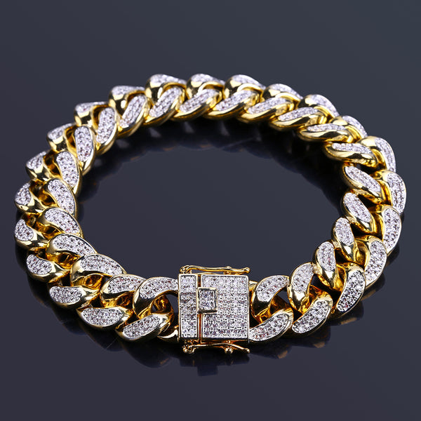 14mm Men's Cuban Link Bracelet
