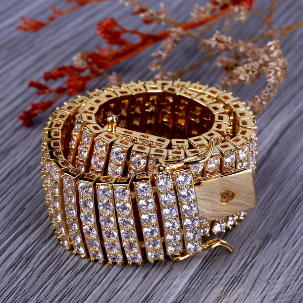 18mm 6 Rows Gold-plated Bracelet