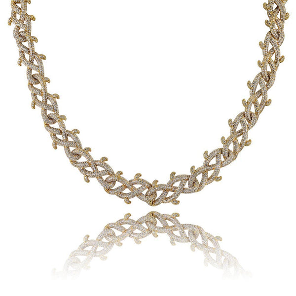 18mm Cuban link Iced Out Chain brambles Necklace
