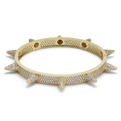 7mm Iced Out Rivet Punk Bracelet