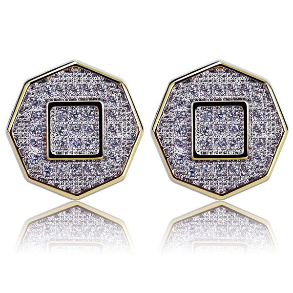 Octagon Hiphop Stud Earrings