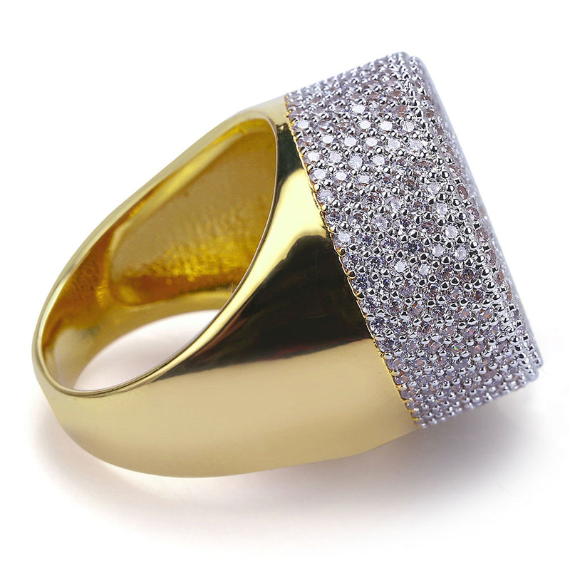 Gold-plated Simple and Shining Ring