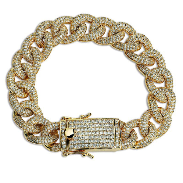 13mm Iced Out cuban Link bracelet