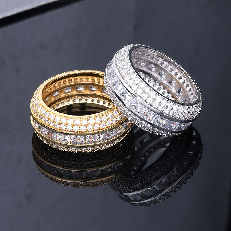 5 Rows Diamond Band Ring