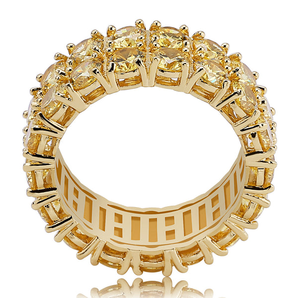 Biling Cubic Zirconia 2 Row Gold Ring