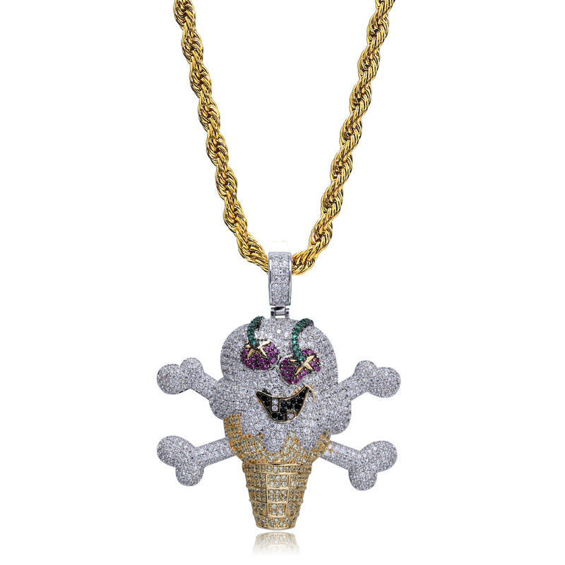Bling Pirate Ice Cream Pendant Necklace