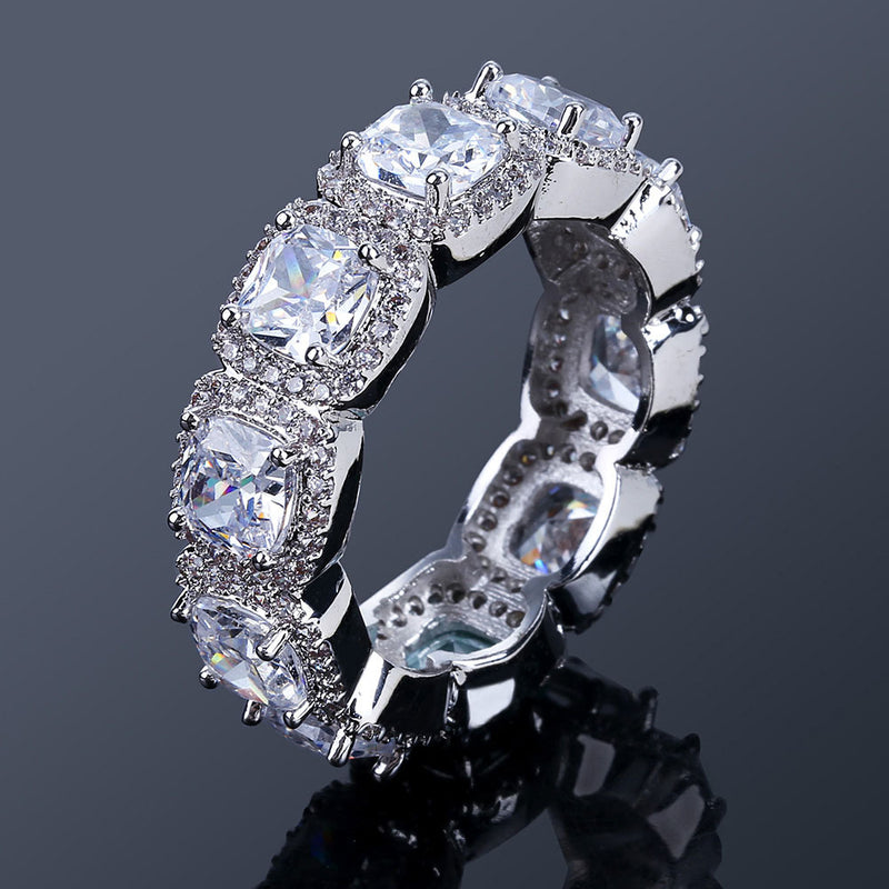 Classic Hip Hop Diamond Ring