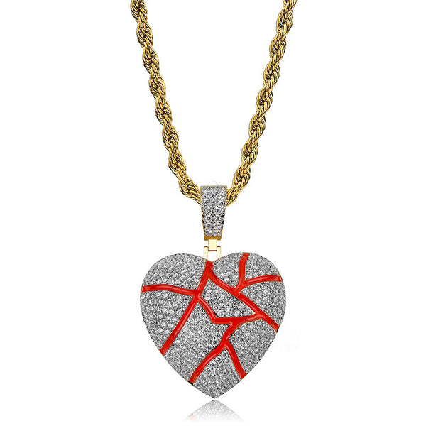 Diamond Broken Heart Pendant