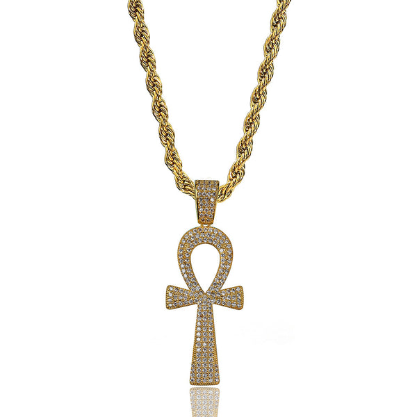 Egyptian Religious Ankh Kreuz Iced out Pendant