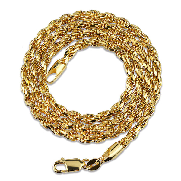 3mm Gold-plated Dookie Rope Chain