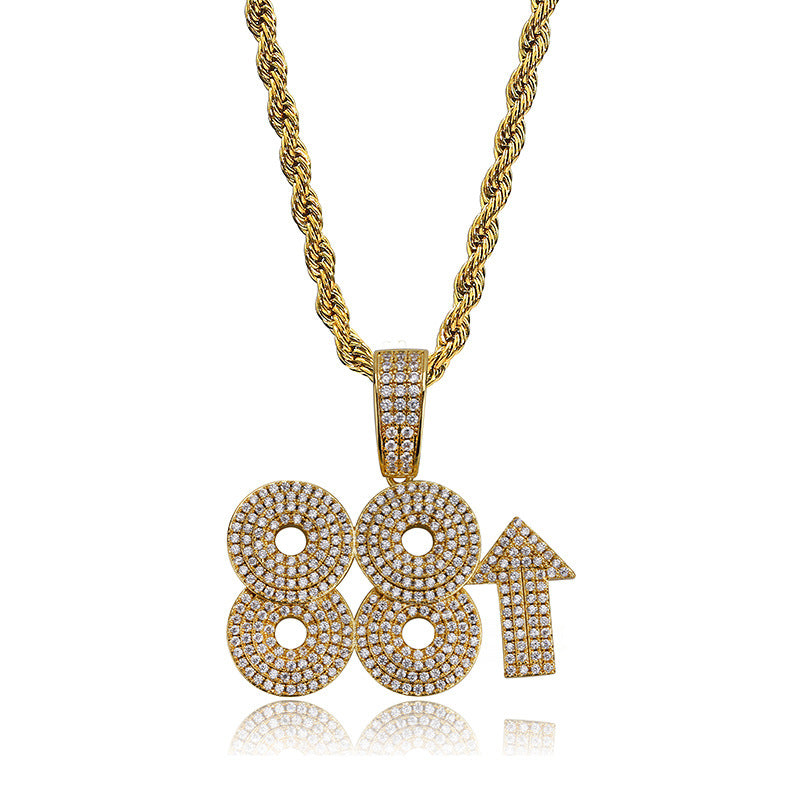 Hip Hop 88 Rising Rich Pendant Necklaces