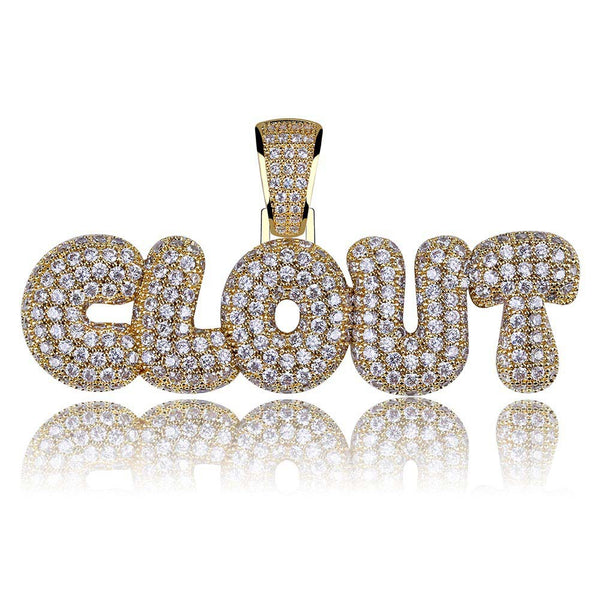 Hip Hop CLOUT Pendant Iced out Jewelry