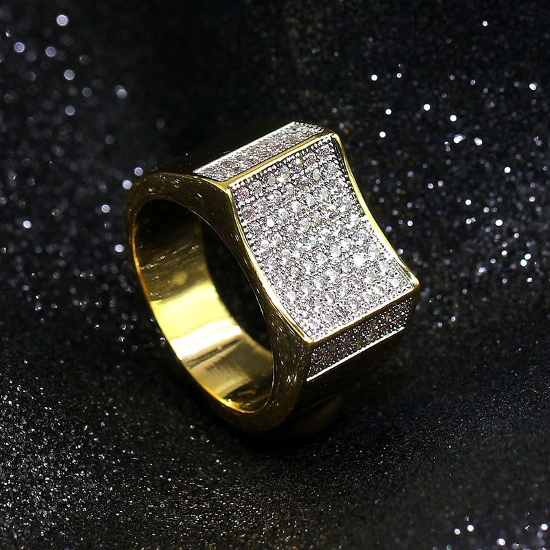 Iced Out Hip Hop Diamond Cluster Ring