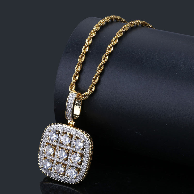 Iced out Diamonds Sudoku Pendant