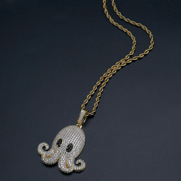 Iced out Octopus Hip Hop Pendant