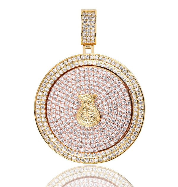18K Gold-plated Money Bag Spinner Pendant