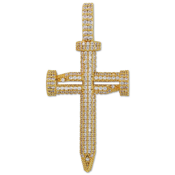 Nail Shape Cross Pendant