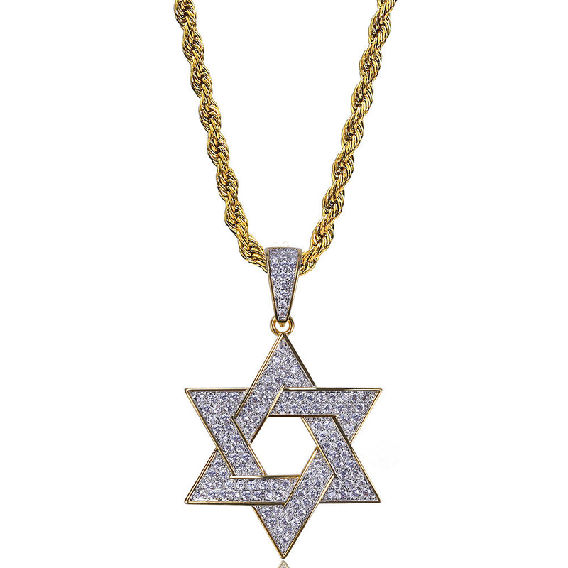 Star of David Hexagram Magen David Pendant