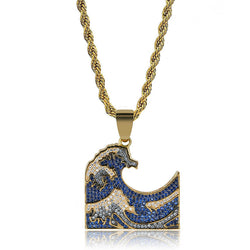 Hokusai The Great Wave off Kanagawa Emoji Pendant
