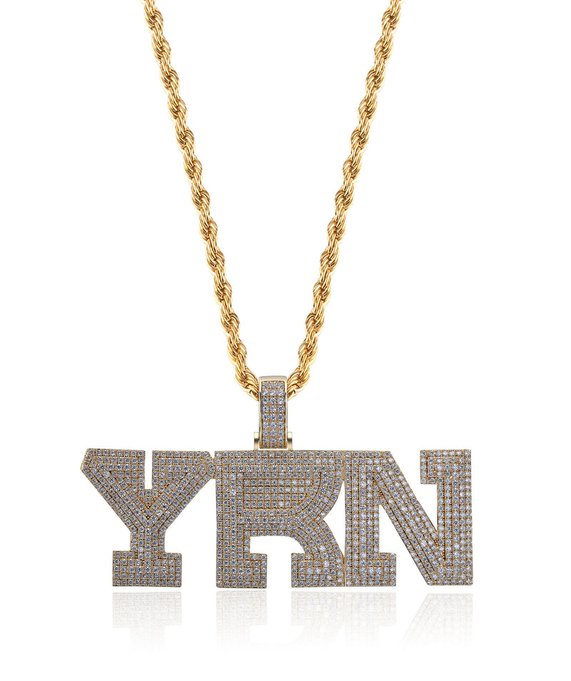 Hip Hop Iced out Migos Gold Gods Culture YRN Pendant