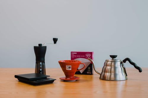 V60 Bundle: Ceramic V60 + Scales + Grinder + Kettle + Filters