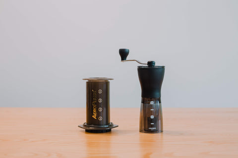AeroPress + Hario Mini-Slim Grinder Bundle