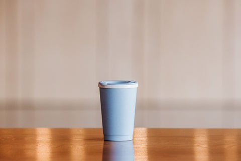Double-wall Reusable Coffee Cup made from WHEAT!  280ml  BLUE
