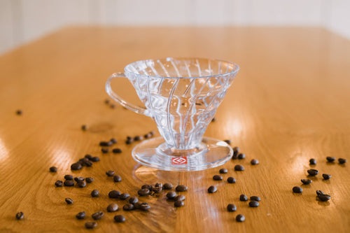 Hario V60 Coffee Dripper #02 - 1-4 Cup - Clear Plastic
