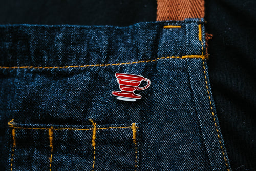 V60 - coffee themed enamel pin.