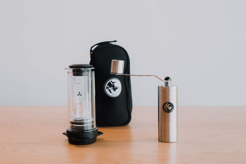 Delter Coffee Press + Grinder Bundle (Includes Carry Bag!)