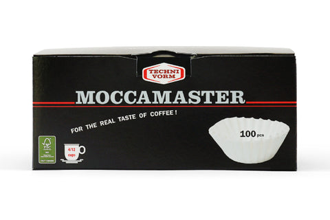 Moccamaster Grand Flat Bottom Paper Filters (100 Pack)