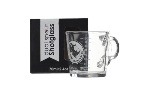Rhino Coffee Gear Shot Glass - Double Spout