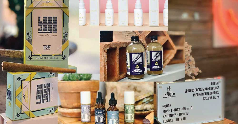 Infused CBD Marketplace - Lady Jays Common Ground CBD VIIA CBD CBD Kombucha Hemp Flower Boulder Colorado