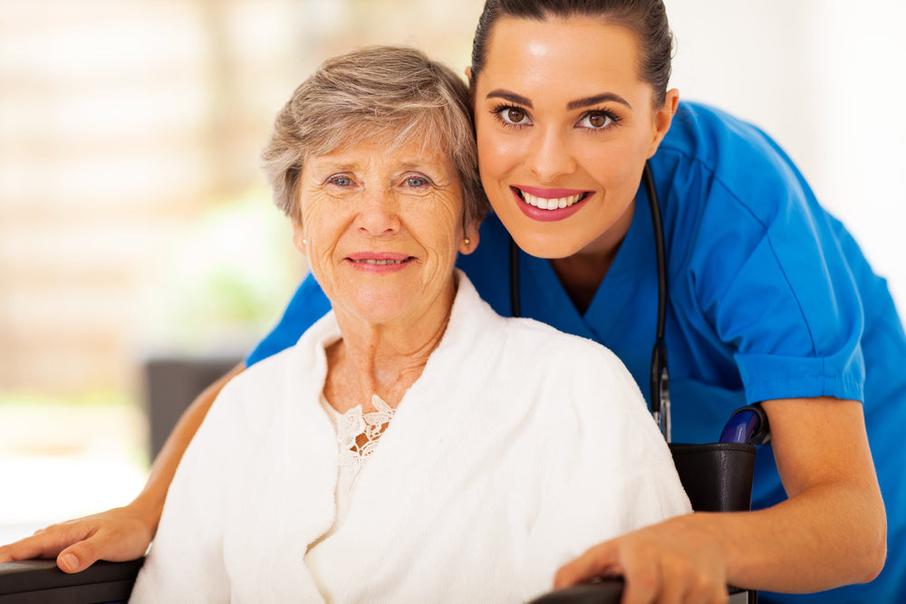 healthcare worker and patient